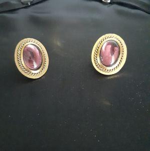 Vtg YSL clip earrings